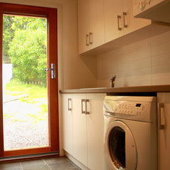 modern laundry room by Samara Greenwood Architecture