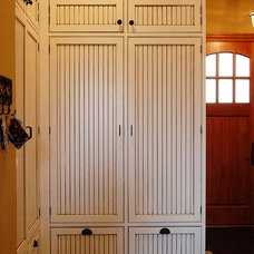 Laundry Room Wood Lockers with doors