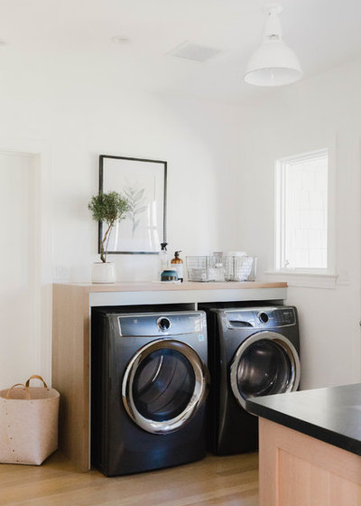 Transitional Laundry Room by Rehabitat