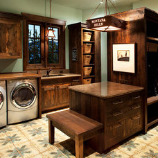 Traditional Laundry Room by Hunter and Company Interior Design