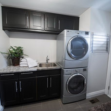 Transitional Laundry Room by LindenCraft Fine Renovation and Design
