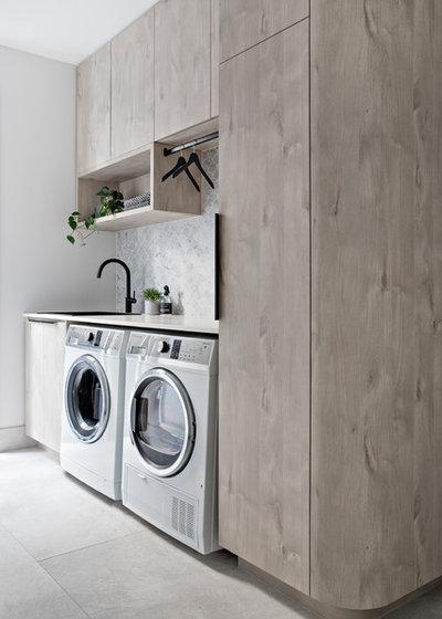 Scandinavian Laundry Room by polytec