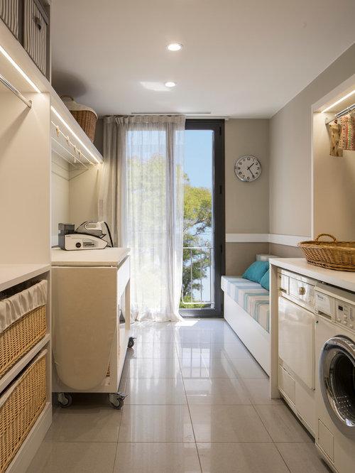 Fotos de lavaderos dise os de lavaderos con armarios for Puertas semi macizas blancas