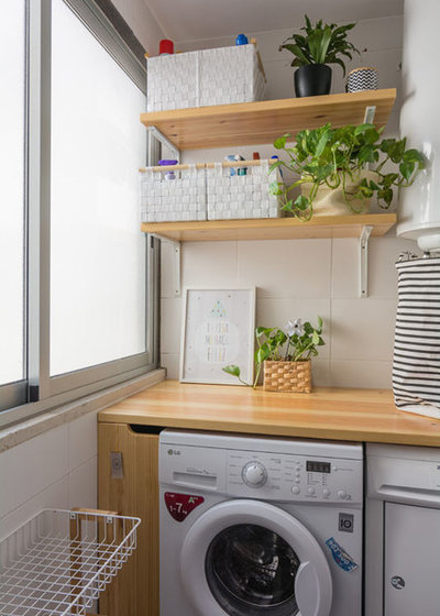 Scandinavian Laundry Room by Ópera de Domingo