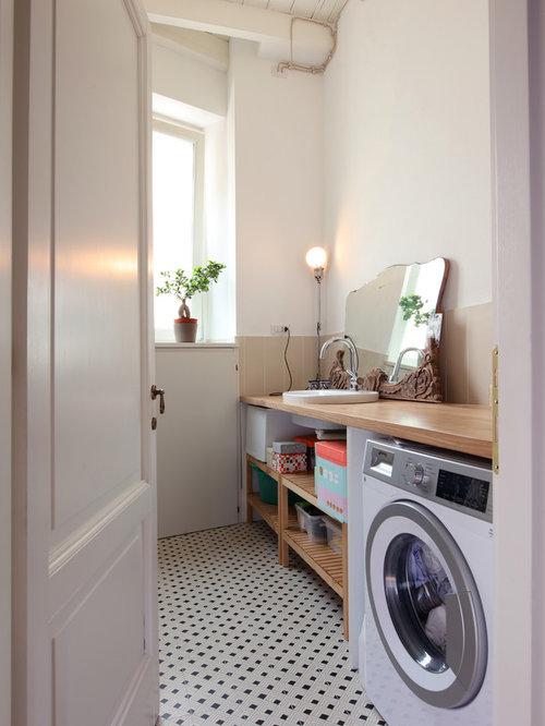 foto e idee per lavanderie lavanderia con pavimento con