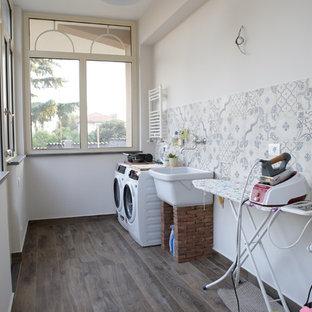 Idéer för en shabby chic-inspirerad tvättstuga