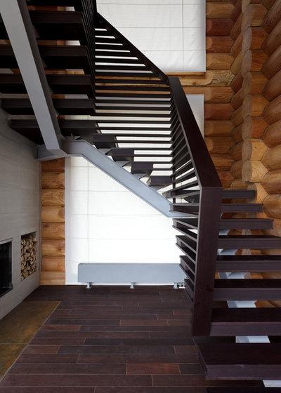 Современный Лестница by Архитектурное бюро LOFTING