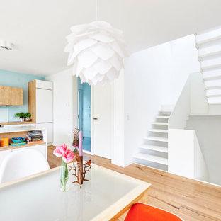 Пример оригинального дизайна: лестница в скандинавском стиле