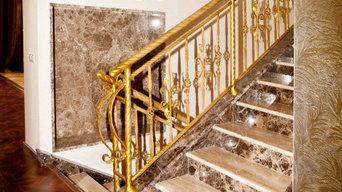 Лестница из натурально камня