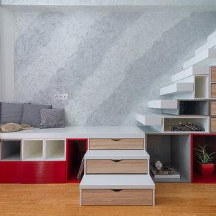 Идея дизайна: угловая лестница в современном стиле