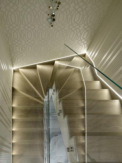 Современный Лестница by iPozdnyakov Studio