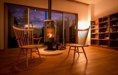 薪ストーブや暖炉のある、暖かな家60選