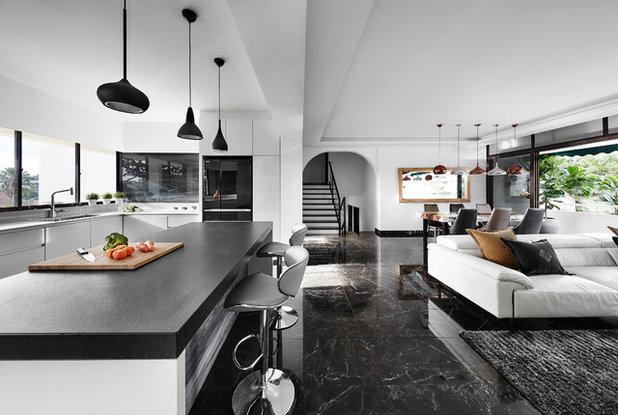 Contemporary Living Room by akiHAUS Design Studio