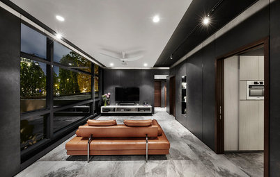 Houzz Tour: Black Turns an Ordinary Apartment Into a Head Turner
