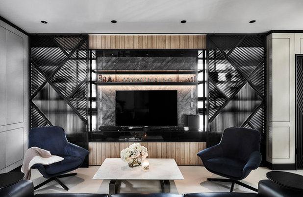 Modern Living Room by akiHAUS Design Studio