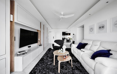 Houzz Tour: Hotel-Inspired HDB Flat Glams Up in Black and White