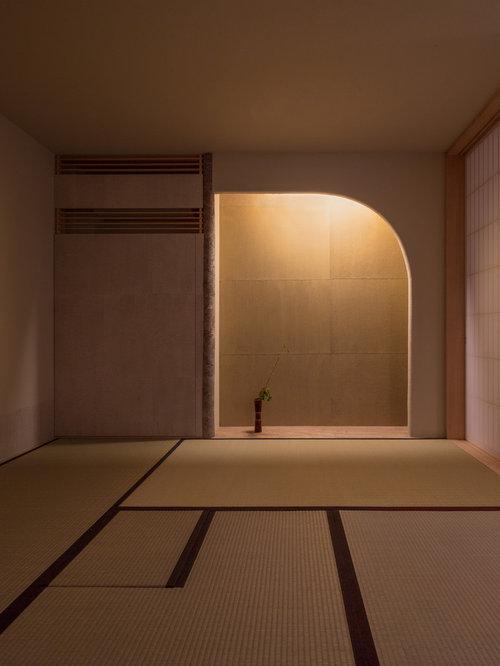 salon avec un sol de tatami photos et id es d co de salons. Black Bedroom Furniture Sets. Home Design Ideas
