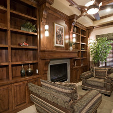 Traditional Living Room by Pinnacle Architectural Studio