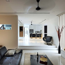 Asian Living Room by The Interior Place (S) Pte Ltd