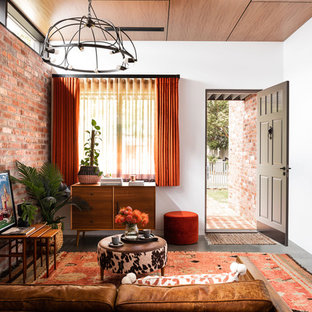 Inspiration for an industrial living room in Perth.