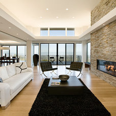 Modern Living Room by Montigo Fireplaces