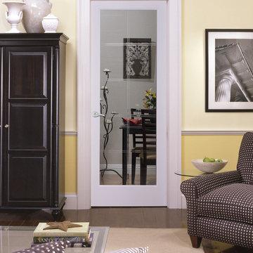 10-lite V-Groove Decorative Glass Interior Door
