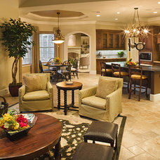 Traditional Living Room by Frankel Building Group