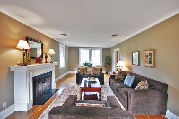 Contemporary Living Room by Bungalow Home Staging & Redesign