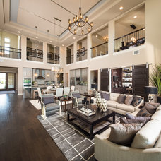 Transitional Living Room by Five Star Interiors