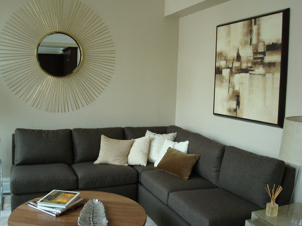Transitional Living Room by Lea Frank Design