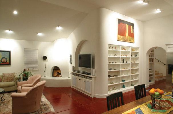Southwestern Family Room by HartmanBaldwin Design/Build