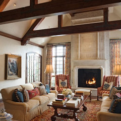 traditional living room by Tiffany Farha Design