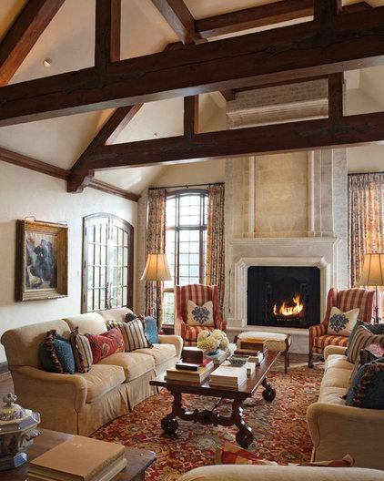 Mediterranean Living Room by Tiffany Farha Design
