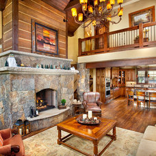 Traditional Living Room by Pinnacle Mountain Homes