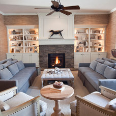 Beach Style Living Room by R. Cartwright Design