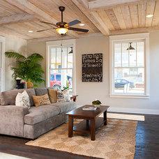 Farmhouse Living Room by Pfeffer Torode Architecture