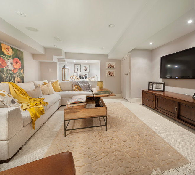 Transitional Living Room by Ruby Photography Studio