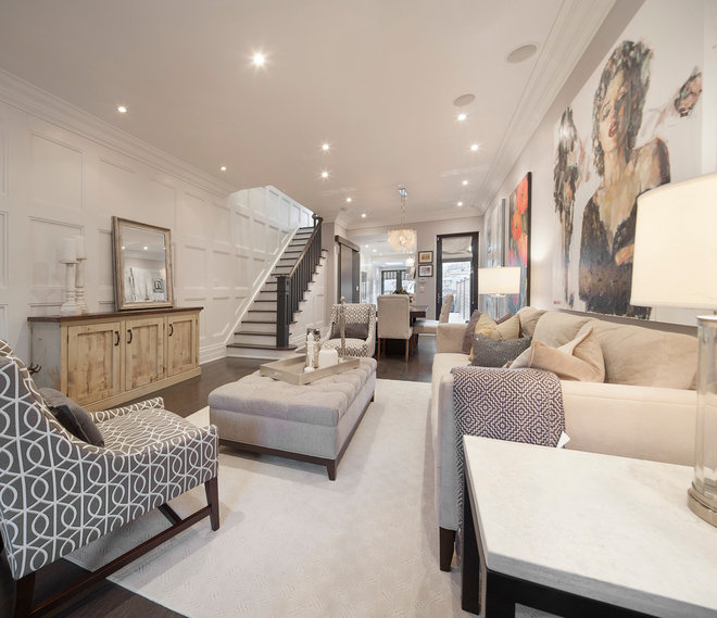 Transitional Living Room Design Ideas: My Houzz: Reviving A 1902 Row House In Toronto