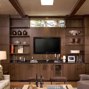 Inspiration for a contemporary living room remodel in Denver