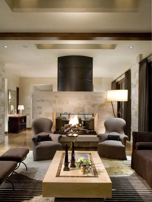 Faux Limestone Fireplace Surround | Houzz