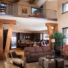 Contemporary Living Room by Pinnacle Mountain Homes