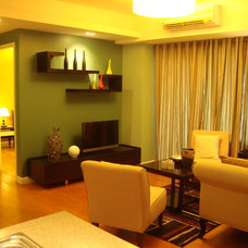 Asian Living Room 1409 One Rockwell