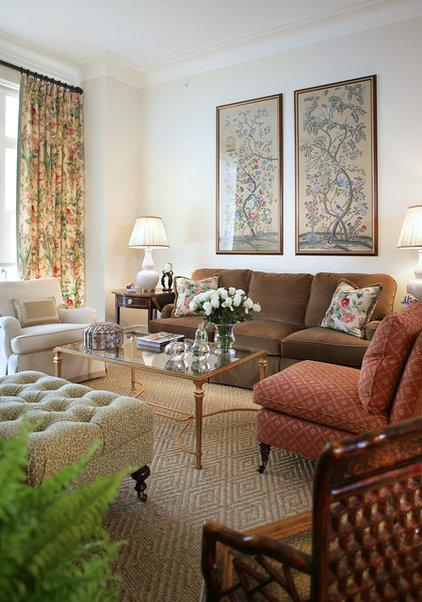 Traditional Living Room by Treby Spanedda Interiors