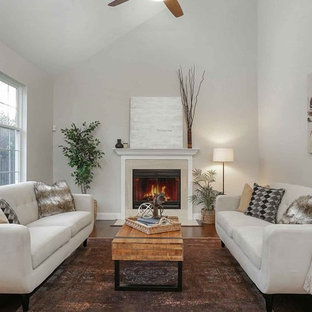 White couch living room ideas Interior Inspiration For Transitional Formal Dark Wood Floor Living Room Remodel In New York With Gray Shutterfly White Sofa Living Room Houzz