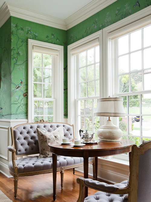 Inspiration For A Timeless Medium Tone Wood Floor Living Room Remodel In  Los Angeles With Green Part 96