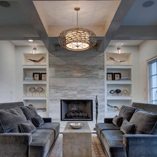 Transitional Living Room by Wolfe Rizor Interiors
