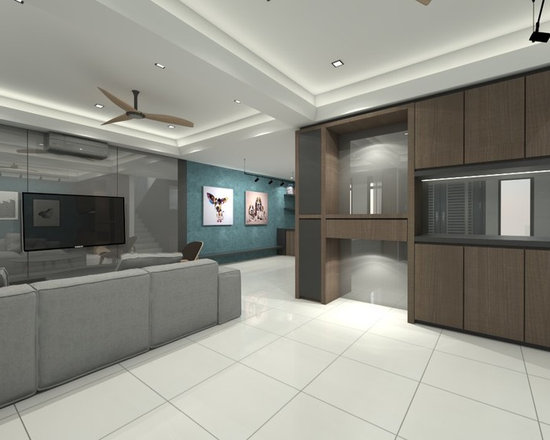 House In Malaysia Living Room Design Ideas Remodels Photos Houzz