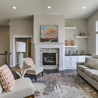75 Beautiful Farmhouse Living Room Pictures Ideas March 2021 Houzz