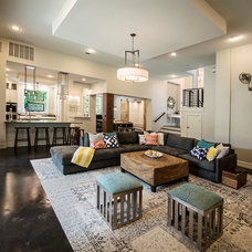 Transitional Living Room by Mezger Homes