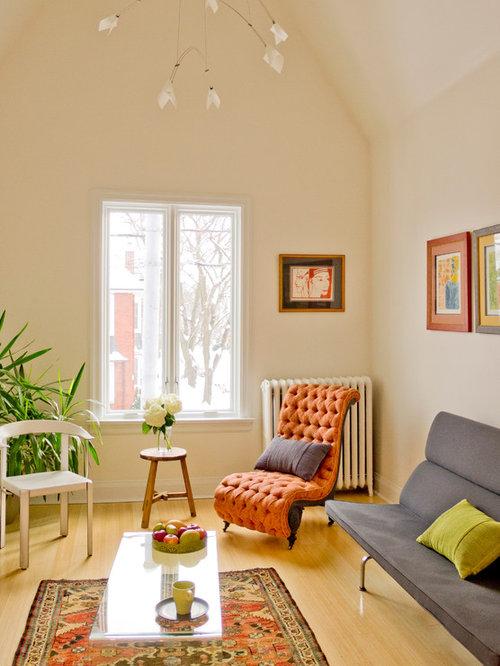 salon victorien avec un sol en bambou photos et id es. Black Bedroom Furniture Sets. Home Design Ideas